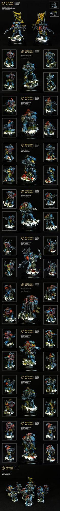 40k - Grey Hunters by Modelling Art Studio