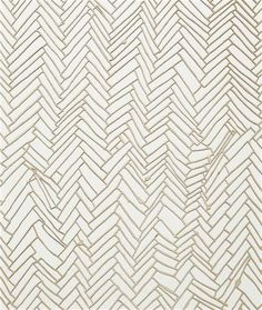 Herringbone floor drawing by Rachel Whiteread. Shows sensitivity for pattern and fluid lines.