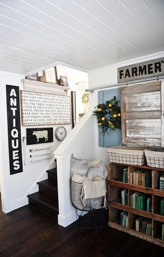 Downstairs Living Room Makeover: Update March 2016 | Farmhouse ...