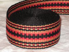Black red and gold inkle woven trim by applegirl5 on Etsy, $45.00