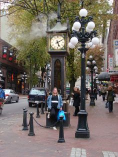 Steam-powered Clock - Gastown, Vancouver, B.C., Canada