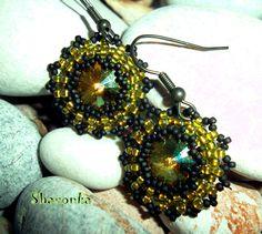 Crystal lemon Beading Jewelry, Color Combinations, Diy Ideas, Crochet Earrings, Swarovski, Lemon, Beads, Crystals, Pretty