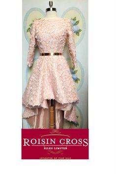 Vintage Pink Silk Dupion with Applique Lace Day Dresses, Summer Dresses, Dress Making Patterns, Pink Silk, Ladies Day, Vintage Pink, Dressmaking, Applique, Vogue