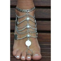Sexy Silver Anklet Layered Anklet Jewelry