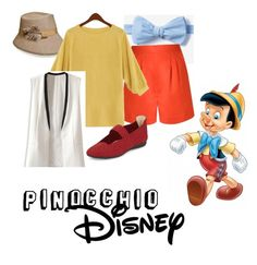 """Pinocchio"" by bridie-veronica ❤ liked on Polyvore featuring Andrea Marques, WithChic, Taryn Rose, Disney, women's clothing, women's fashion, women, female, woman and misses"