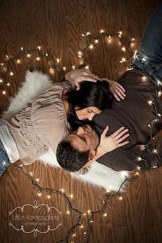 christmas couple love - cute family photo idea for next Christmas card with the kids