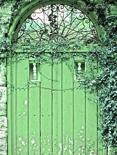 Studio Swede 13, Door Photography, Travel Photography, Fine Art, Old Doors, Cottage, Garden Photography, Rustic Farmhouse, Green Decor, Shabby, Art Print.