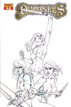 #Damsels #7 #Dynamite (Cover Artist: Joseph Michael Linsner)