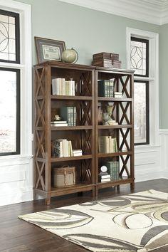 H565-17(pair) traditional wood brown big bookcase, pair (2)