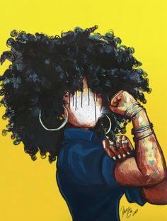 Black Art Painting, Black Artwork, Black Love Art, Black Girl Art, African American Art, African Art, Black Power Desenho, Ultron Wallpaper, Drawings Of Black Girls