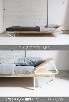 DIY bed frames! You can build a bed frame that also saves you money. And we have a bunch of DIY bed frame tutorials to prove it.