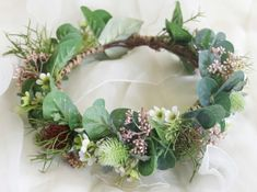Silk Flower crown. Australian native foliages & wildflowers