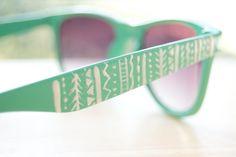 diy sunglass details. a good idea for making cheap sunglasses look cute!