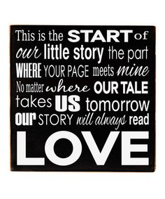 Black & White 'Our Story' Wall Art