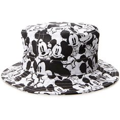 Mickey Mouse Bucket Hat ($15) ❤ liked on Polyvore featuring accessories, hats, bucket hat, fishing hats, fisherman hat, forever 21 e mickey mouse hat