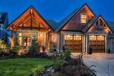 West Coast Timber Frame Entry and Gable Truss craftsman-exterior