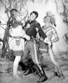 SEMINOLE (1953) - Rock Hudson (pictured) - Barbara Hale - Anthony Quinn (pictured) - Hugh O'Brian (pictured) - Directed by Bud Boetticher - Universal-International - Publicity Still.