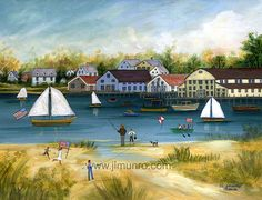 Crosby Boat Yard Osterville by capecodfolkart on Etsy, $45.00