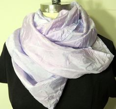 Lavender Silk Infinity Scarf by WhiteWingScarves on Etsy, $38.00