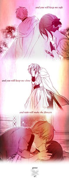 Akagami no Shirayuki-hime - Zen and Shirayuki- not sure why this is using lyrics from song about someone dying though...