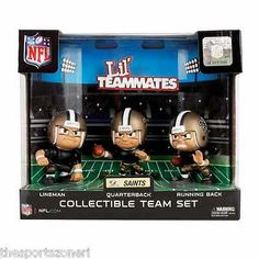 New Orleans Saints Lil Teammates Quaterback, Running Back, Lineman Team Set Visit our ebay Store  www.thesportszonetoo.com