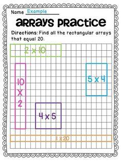 Rectangular Array Division Worksheets Worksheets for all ...