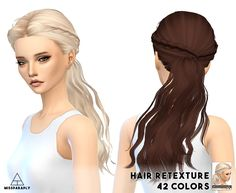 [TS4] Hair retexture / Skysims hairs• Hairs by Skysims • 42 colors • Non default…