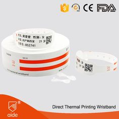 Direct Thermal Printing Wristbands #patienthospital #RFID #wristbands #healthcare