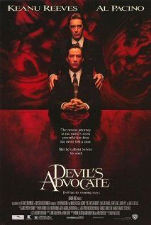 The Devil's Advocate - 1997 American mystery thriller film based on Andrew Neiderman's novel of the same name. It is directed by Taylor Hackford and stars Keanu Reeves, Al Pacino, and Charlize Theron. Top Movies, Scary Movies, Great Movies, Movies To Watch, Awesome Movies, Films Cinema, Cinema Posters, Movie Posters, Al Pacino