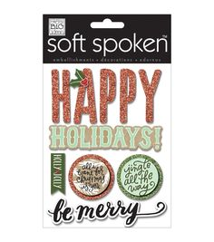 Soft Spoken Themed Embellishments - Jingle All The Way