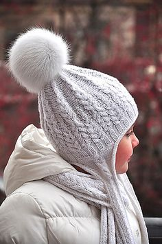 Ravelry: Fern Field Hat with earflaps pattern by Pelykh Natalie