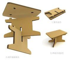 Cardboard/knockdown table 书桌