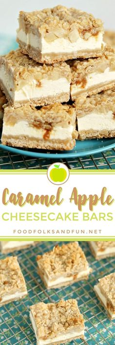 What's better than Caramel Apples? Caramel Apple Pie. What's better than Caramel Apple Pie? CARAMEL APPLE CHEESECAKE BARS, of course! Caramel + Apples + Cheesecake = a whole lotta love on a plate!