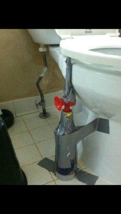 Air horn toilet seat prank