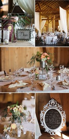 Table numbers and arrangements.