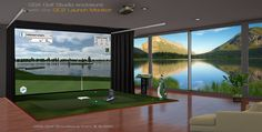 Home Golf Simulator, Indoor Golf Simulator, Golf Room, Golf Simulators, My Dream, Golf Courses, Deco, Sims, Dream Wedding
