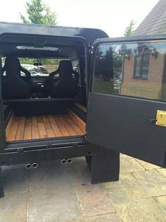 Land Rover Defender/Series - love the wooden floor.