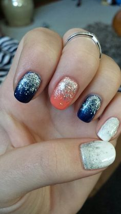 My Denver Broncos nails! Go Broncos ♡