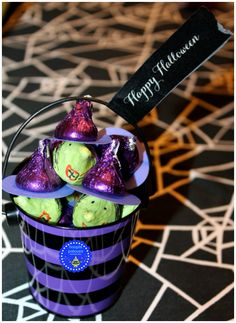 Halloween witches made from Hershey kisses