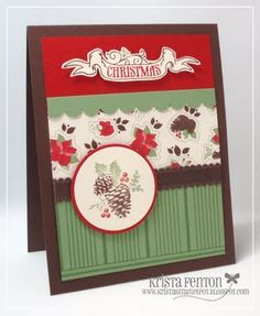 Love this card using the new Stampin' Up! Christmas mini products.