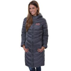 Pro Line New York Giants Womens Siberian Puff Full Zip Jacket - Gray - $62.99