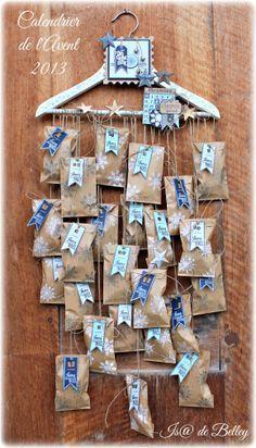 Calendrier de l'Avent Explications sur http://scrapisadebelley.canalblog.com/