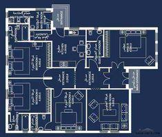 4 Bedroom House Plans, Family House Plans, New House Plans, Dream House Plans, Modern House Plans, House Floor Design, Home Design Floor Plans, Classic House Design, Simple House Design