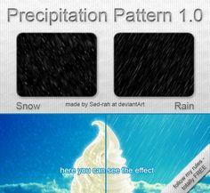 Precipitation Pattern 1.0  by *Sed-rah-Stock