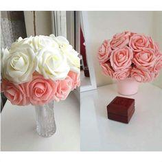 Italian Options Lot de 6 Roses en Mousse Artificielle Turquoise 5 cm