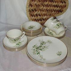GEORGIAN CHINA SPRING BLOSSOM DINNERWARE SET FOR 4 PLATES BOWLS CUP & SAUCER USA | eBay