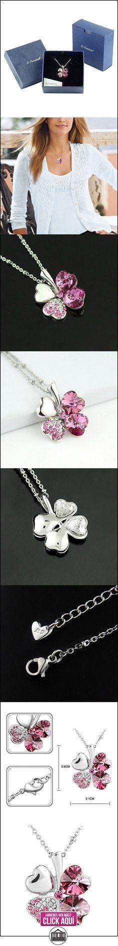 Le Premium - Collar con dije de con cristal swarovski rosa chapado en oro blanco  ✿ Joyas para mujer - Las mejores ofertas ✿ ▬► Ver oferta: http://comprar.io/goto/B007SLVV5C