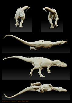 Saurophaganax maximus - in progress by FabrizioDeRossi on DeviantArt T Rex Jurassic Park, Jurassic Park World, Prehistoric Wildlife, Prehistoric Creatures, Dinosaur Images, Dinosaur Art, Creature Concept Art, Creature Design, Zbrush