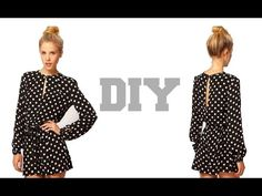 DIY Long Sleeves Jumpsuit Shorts( Easy Sewing), My Crafts and DIY Projects