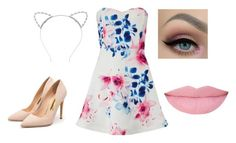 """Ariana Grande inspired outfit"" by sophiagnc ❤ liked on Polyvore featuring Lipsy and Rupert Sanderson"